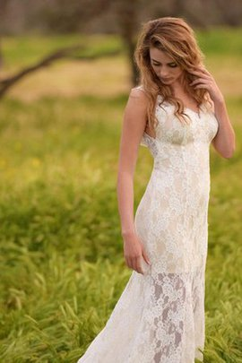Elegant & Luxurious Lace Fabric V-Neck Mermaid Wedding Dress