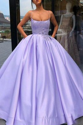 Spaghetti Straps Floor Length Sleeveless Ball Gown Enchanting Appliques Evening Dress