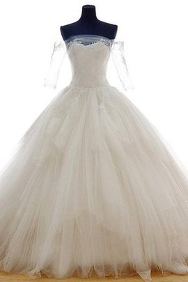 Tulle Off The Shoulder Romantic Tiered Lace-up Wedding Dress