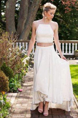 Sleeveless A-Line Natural Waist Informal & Casual Beach Wedding Dress