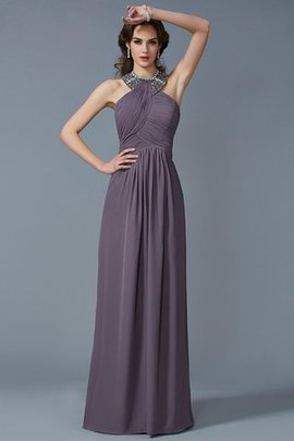 Sheath Zipper Up Sleeveless High Neck Beading Evening Dress