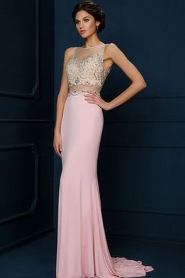 Vintage Bateau Zipper Up Appliques Elegant & Luxurious Prom Dress