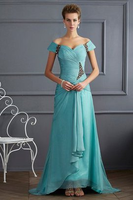 Sleeveless Off The Shoulder Sweep Train Princess Long Evening Dress