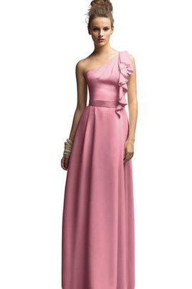 Chiffon One Shoulder Sashes Long Bridesmaid Dress