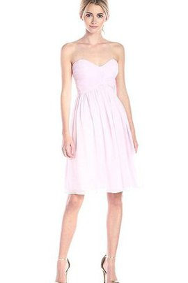 Zipper Up A-Line Ruched Simple Pleated Bridesmaid Dress