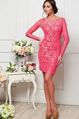 Informal & Casual Chic & Modern Lace Fabric Bateau Long Sleeves Party Dress