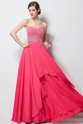 Sweetheart Floor Length A-Line Long Prom Dress