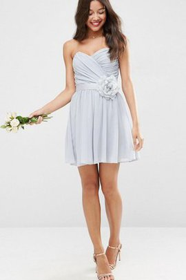 Sleeveless Flowers Chiffon A-Line Criss-Cross Party Dress