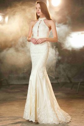 Floor Length Natural Waist Jewel Zipper Up Appliques Evening Dress