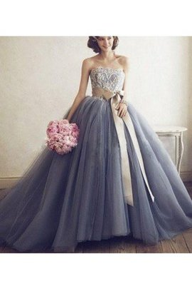 Tulle Sweetheart Floor Length Natural Waist Sleeveless Prom Dress
