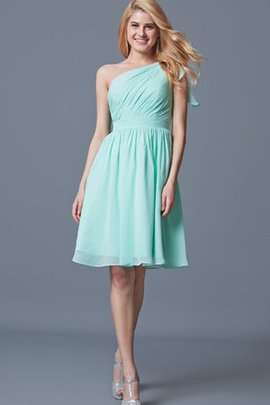 Informal & Casual One Shoulder Bow Sleeveless Simple Bridesmaid Dress