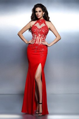 Beading Mermaid Sleeveless Long Backless Evening Dress