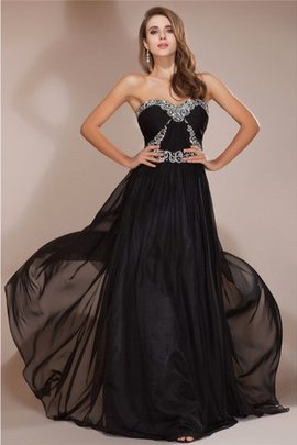 Sleeveless Long Sweetheart Chiffon Beading Evening Dress