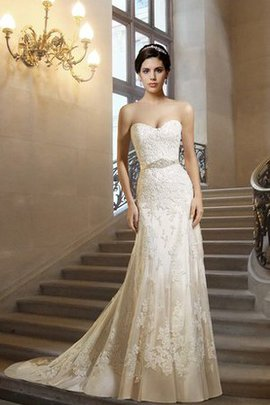 Floor Length Court Train Sweetheart Sheath Wedding Dress