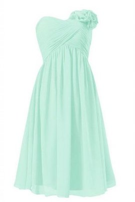 Zipper Up Sleeveless Ruched Pleated Flowers Bridesmaid Dress