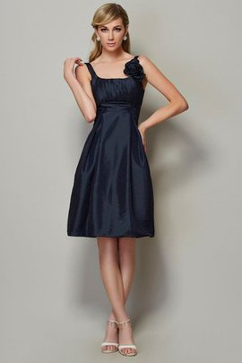 Princess Sleeveless Short Draped Spaghetti Straps Bridesmaid Dress