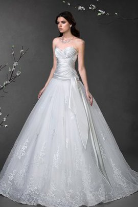 Natural Waist Satin Criss-Cross Lace-up Sleeveless Wedding Dress