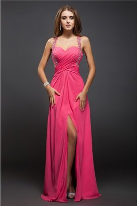 Ruffles Sheath Empire Waist Long Sleeveless Prom Dress