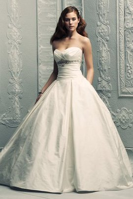 Sweep Train Sleeveless Backless Pompous Princess Wedding Dress