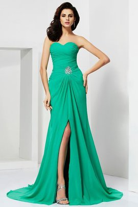 Sweetheart Sheath Sleeveless Sweep Train Long Evening Dress