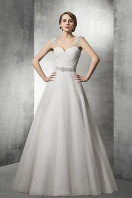 Beading Sweetheart Tulle Capped Sleeves Sexy Wedding Dress