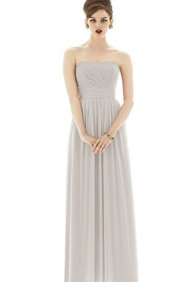 Simple Empire Waist Ruched Chiffon Strapless Bridesmaid Dress