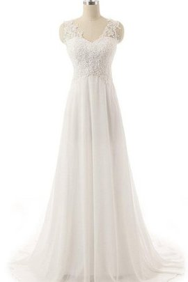 Lace-up Lace Fabric Pleated Embroidery Ruched Wedding Dress