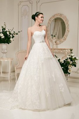 Lace Fabric Floor Length A-Line Sleeveless Wedding Dress