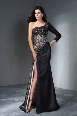 Lace Mermaid 3/4 Length Sleeves Sweep Train Long Evening Dress
