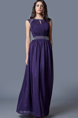 Capped Sleeves Short Sleeves Long Elegant & Luxurious Ruched Evening Dress