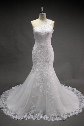 Floor Length Natural Waist Elegant & Luxurious Court Train Lace Fabric Wedding Dress