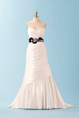 A-Line Inverted Triangle Criss-Cross Outdoor Wedding Dress