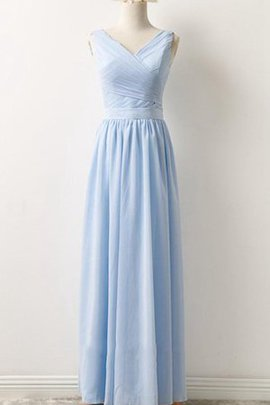 Ruched A-Line Sleeveless Chiffon Elegant & Luxurious Bridesmaid Dress