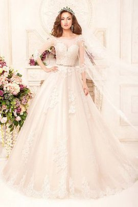 Romantic Ball Gown Modest Scoop Elegant & Luxurious Wedding Dress