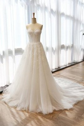 Sleeveless Satin A-Line Tea Length Sweetheart Wedding Dress