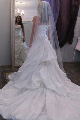 Taffeta Sleeveless Sweetheart A-Line Floor Length Wedding Dress