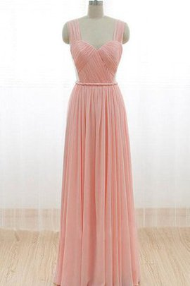 Zipper Up A-Line Ruched Ruffles Pleated Bridesmaid Dress