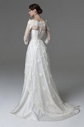 3/4 Length Sleeves A-Line Off The Shoulder Lace-up Appliques Wedding Dress