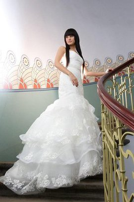Zipper Up Sleeveless Lace Fabric Beading Mermaid Wedding Dress