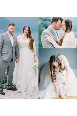 Beach Informal & Casual Lace Vintage Pleated Wedding Dress