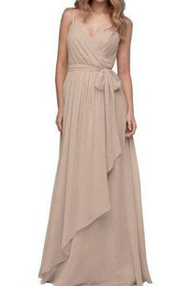 Sashes Ruffles Sleeveless Spaghetti Straps Vintage Bridesmaid Dress
