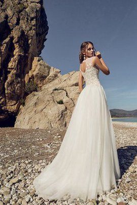 A-Line Elegant & Luxurious Lace Zipper Up Empire Waist Wedding Dress