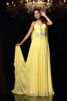 Beading Wide Straps A-Line Natural Waist Sleeveless Evening Dress