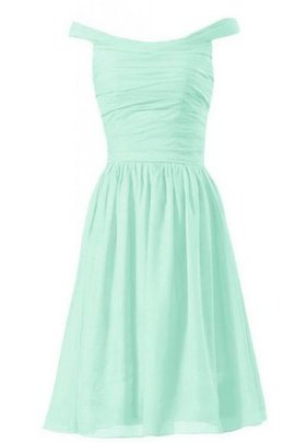 Short Off The Shoulder A-Line Chiffon Zipper Up Bridesmaid Dress