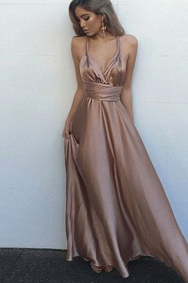 Empire Waist Sashes A-Line Sleeveless Floor Length Evening Dress