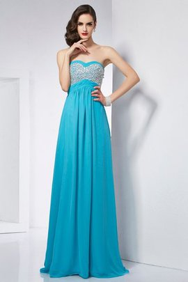 Sweetheart Long Floor Length A-Line Sleeveless Prom Dress