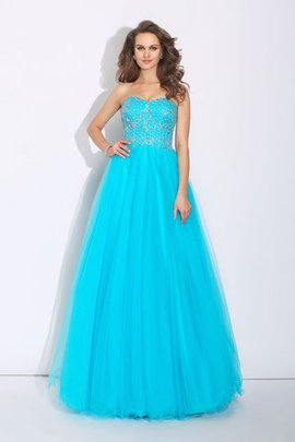 Lace-up Floor Length Sweetheart A-Line Long Prom Dress