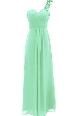 One Shoulder Criss-Cross Draped A-Line Bridesmaid Dress