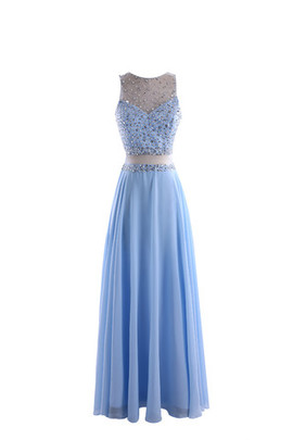 Crystal Chic & Modern See Through Empire Waist Prom Dress