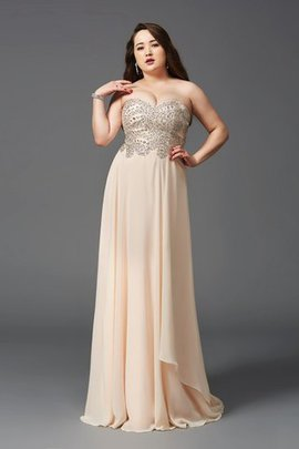 Long Princess Chiffon Sweep Train Empire Waist Prom Dress